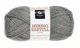 Garn Gjestal Merino Baby Ull 50g Mørk grå