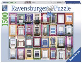 Puslespill 1500 Portugisiske vinduer Ravensburger