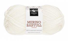 Garn Gjestal Merino Baby Ull 50g Hvit