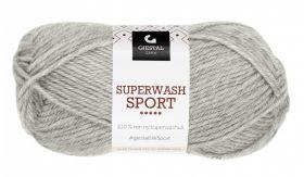 Garn Gjestal Superwash Sport 50g Lys grå
