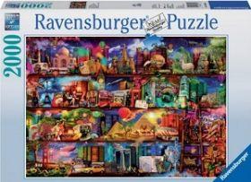 Puslespill 2000 Verdens Bøker Ravensburger