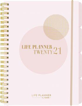 Kalender 2021 Life Planner A5 Uke Pink