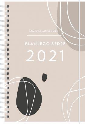 Kalender 2021 Familieplanlegger A5 Uke