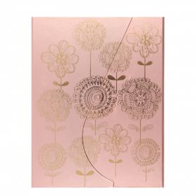 Notatbok Core A5 Linjert Magnetic Gold Flowers
