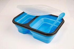 Matboks Bento Sammenleggbar Silikon Blå
