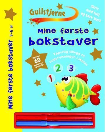 Mine første bokstaver. 3-6 år. 1 hefte, 2 tusjer, klistremerker