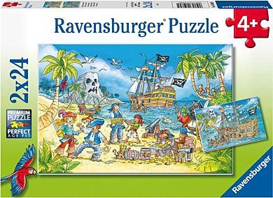 Puslespill 2X24 Eventyrøya Ravensburger