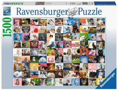 Puslespill 1500 99 Katter Ravensburger