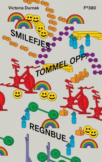Smilefjes. Tommel opp. Regnbue