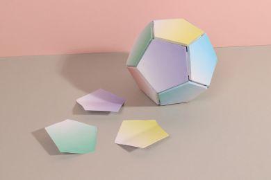 Selvklebende 3D Ball Of Sticky Notes