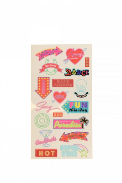 Stickers Neon Signs Wide Stickers