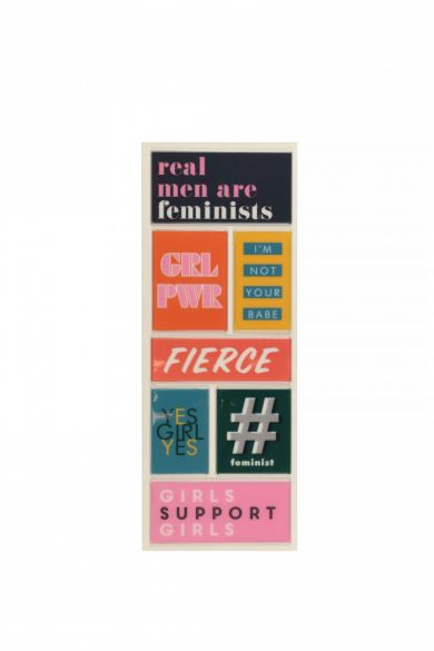 Stickers Fierce Slogan Slim