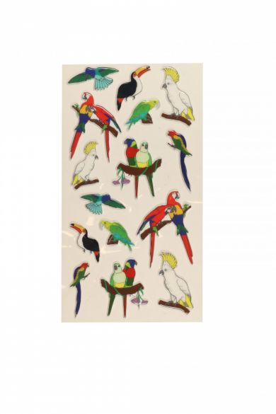 Stickers Tropical Birds Wide