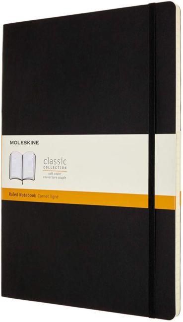 Notatbok Moleskine Classic Soft A4  - Linjert Blac
