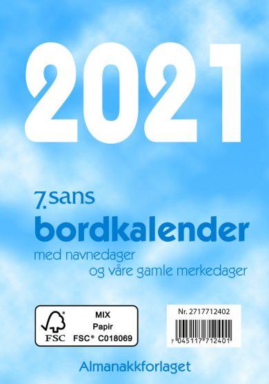 Bordkalender 2021 7.sans Bordkalender. Dag A7