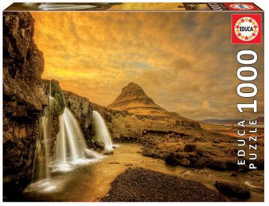 Puslespill Educa 1000 Kirkjufellsfoss Waterfall, I
