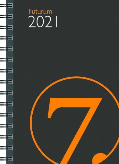 Lommekalender 2021 7.sans Futurum Uke A6 Grå