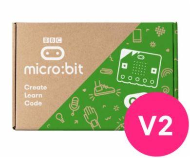 Micro:bit v2. Pakke med 10 BBC micro:biter v2, 10 USB-kabler, 10 batteripakker og 20 AAA batterier