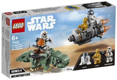 Lego Rømningskapsel Mot Dewback Microfighters 7522