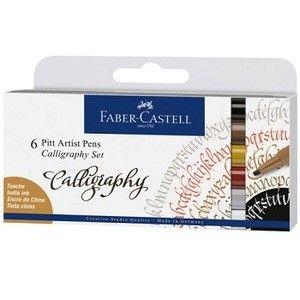 Tegnesett Faber Pitt Kalligrafi 6 Stk