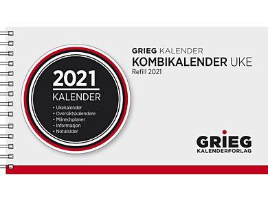 Kombikalender Grieg Spiral Refill uke 2021