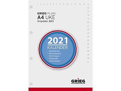 Årspakke Grieg A4 uke 2021