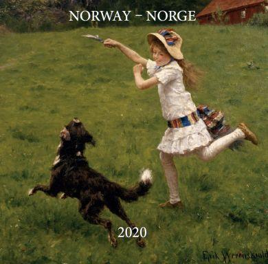 Kalender 2020 Baccara 18x18 Norske kunstnere