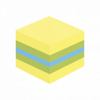 Post-it kube 51x51mm gul/grønn/blå