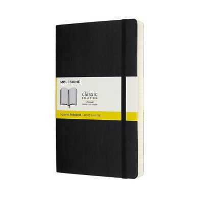 Moleskine Ntbk Exp L Sq Black Soft