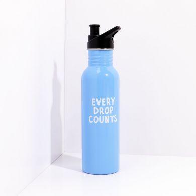 Vannflaske CL Every Drop Metal Blå