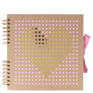 Scrapbook Kraft Laser Cut Heart M