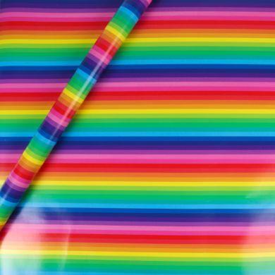 Gavepapir 5m Rainbow Stripe