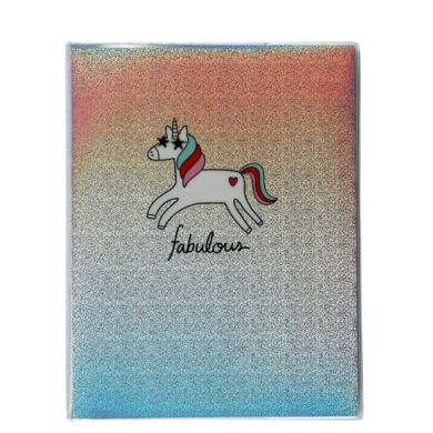 Notatbok Unicorn Plastic Linjert 26x20,5cm