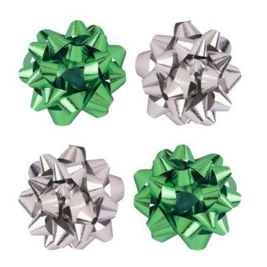 Rosetter Grønn Sølv X4 ø9cm