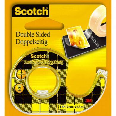 Tape Scotch dobbeltsid. 12mmx6m m/disp
