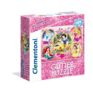 Puslespill 104 Glitter Princess Clementoni
