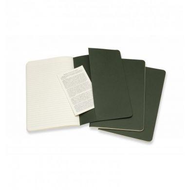 Moleskine Myrtle Green Large Ruled Cahier Journal (set Of 3)