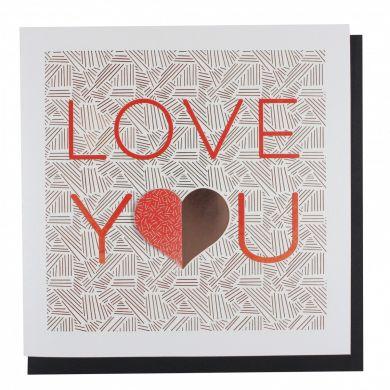 Kort PC Val Lasercut Love You