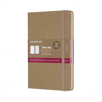 Moleskine Two Go M Ruled Pl Kraft Br