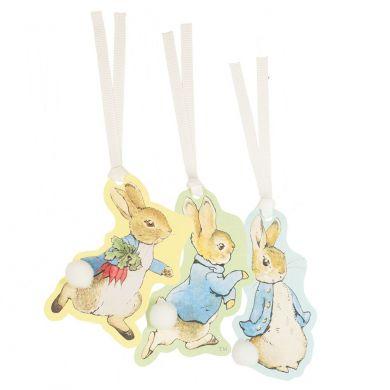 Gavemerkelapp Peter Rabbit Pom Pom X3