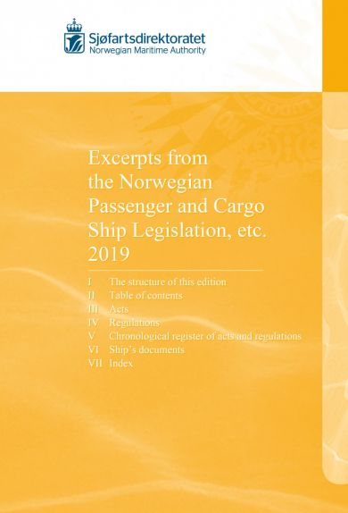 Excerpts from the Norwegian passenger and cargo ship legislation, etc. 2019