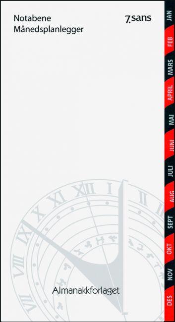 7.Sans Notabene Månedsplanlegger 2020