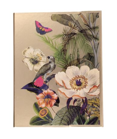 Notatbok A5 Mag Tropical Flowers Gold