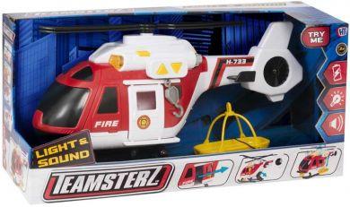 Teamsterz - Brann Helikopter m/Lyd Og Lys (40Cm)