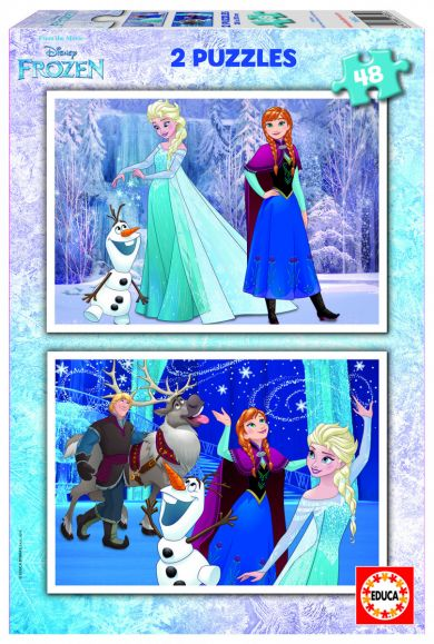 Puslespill Educa 2X48 Frozen