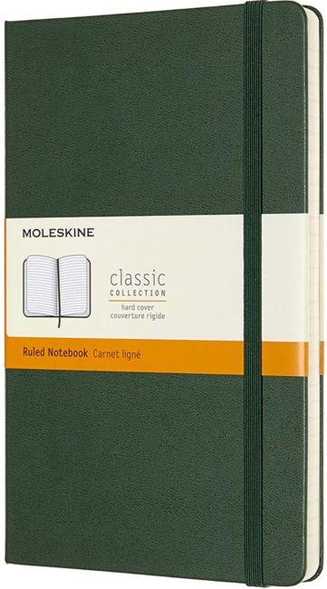 Moleskine Notatbok Hard L Linjert Myrtle Green