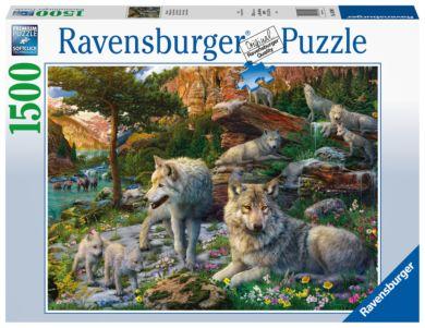 Puslespill 1500 Ulver I Våren Ravensburger