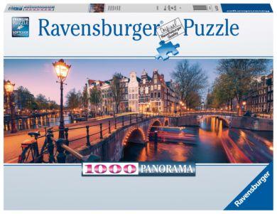 Puslespill 1000 Amsterdam Panorama Ravensburger