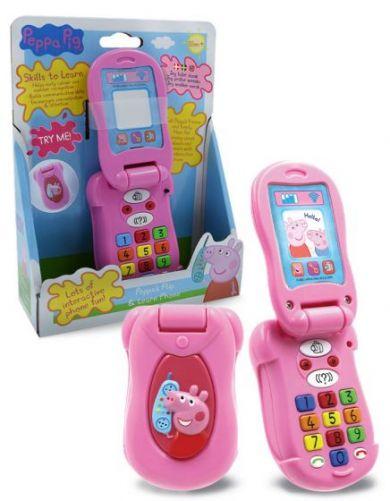 Leke Peppa Pig Flip Learn Phone Norsk Tale