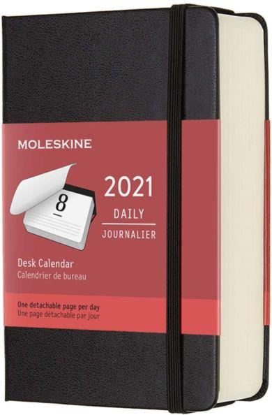 Moleskine Daily Planner 2021 12m Hard P - Desk Bla
